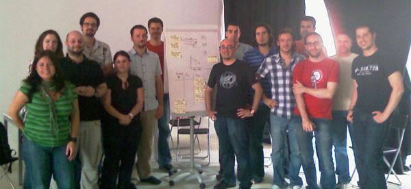 Foto de grupo estimacion y planificacion agil